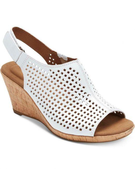 Womens-Rockport-Briah-Perforated-Sling-Wedge-Heels-sandals-Variety-B4HP-114491375230