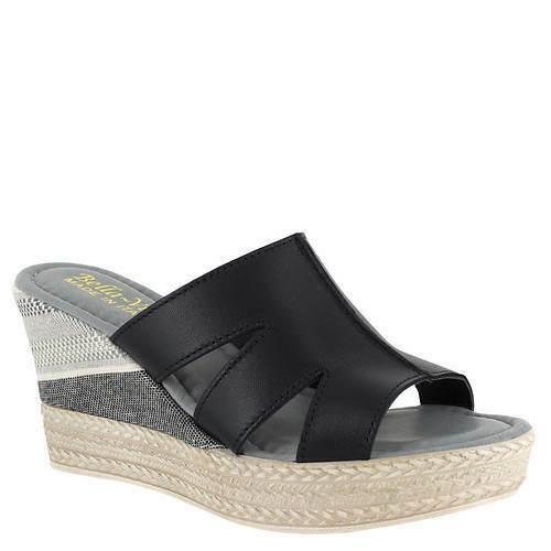 Bella-Vita-Womens-Rox-Italy-Platform-wedge-Sandal-size-9-M-BLACK-114494612942