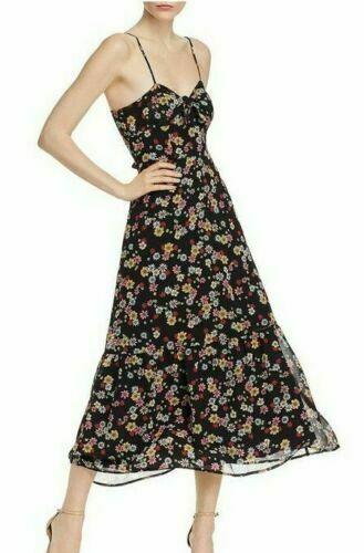 BB-Dakota-RSVP-Womens-Daisy-Bell-Knot-Front-Floral-Midi-Dress-B4HP-114577640153