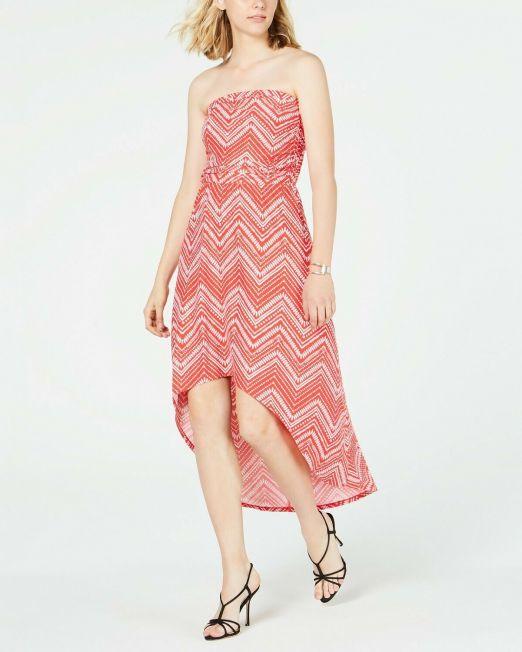Ultra-Flirt-Juniors-Strapless-High-Low-Maxi-Dress-2-colors-114491411074