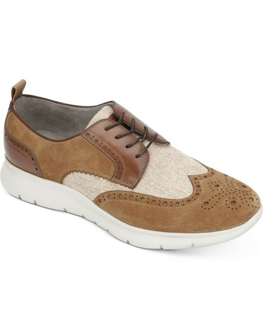 Mens-Kenneth-Cole-Trent-Wingtip-Flex-Oxfords-Dress-Shoes-Taupe-MSRP-189-B4HP-114491411006
