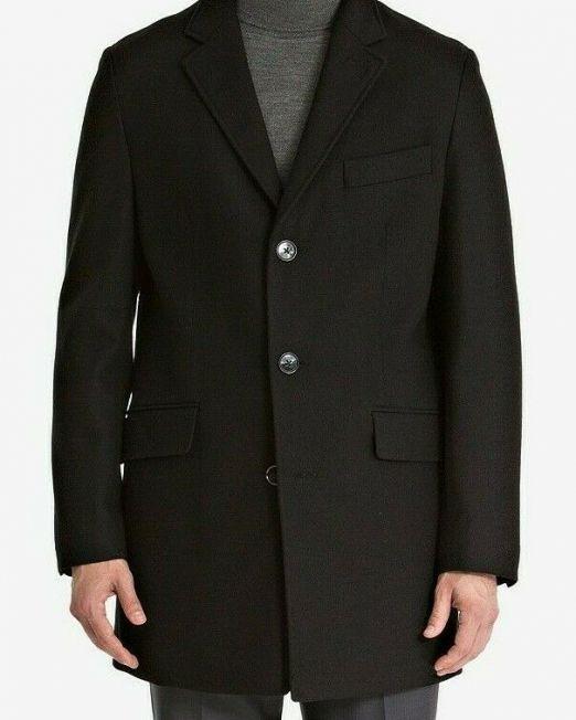 Bar-III-Mens-Slim-Fit-Overcoat-Black-42R-MSRP-350-114494642327