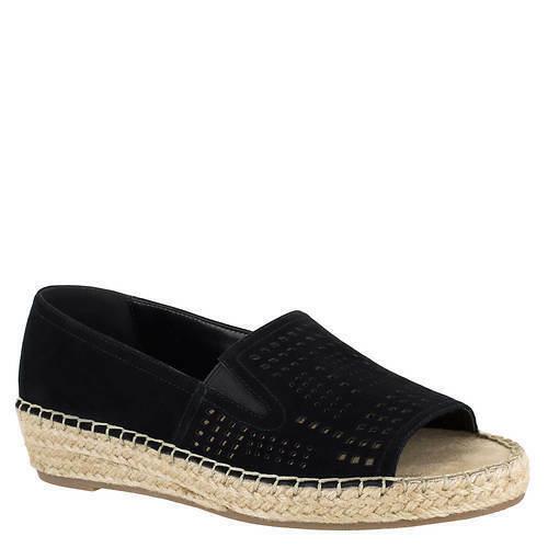 Women-Bella-Vita-Cora-wedge-Heel-Slip-on-espadrilles-size-6-M-BLACK-114494615318